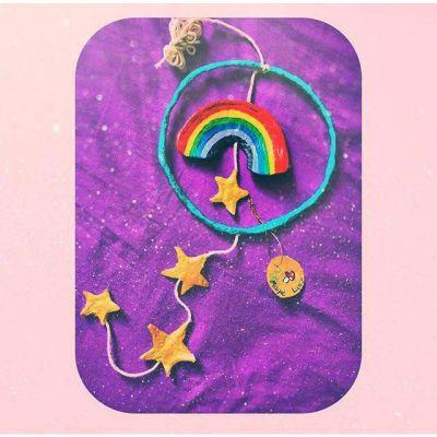 آویز رنگین کمون و ستاره