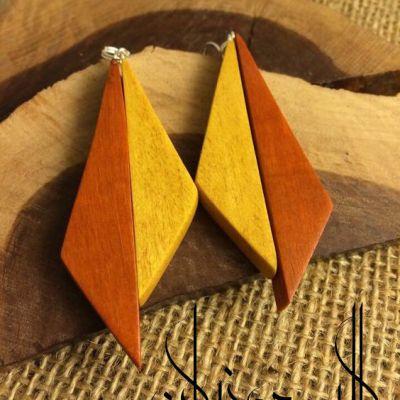 گوشواره دو رنگ