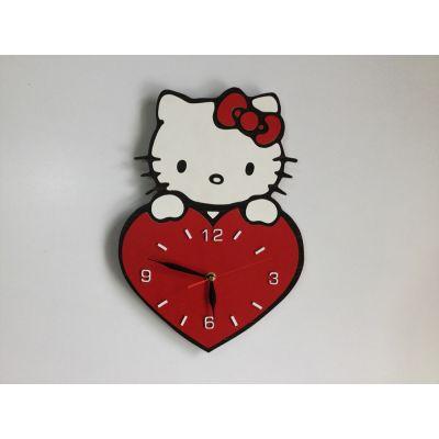 ساعت دیواری کودکانه کیتی قرمز