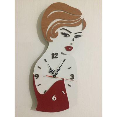 ساعت دیواری  رخ زن مخصوص سالن آرایش