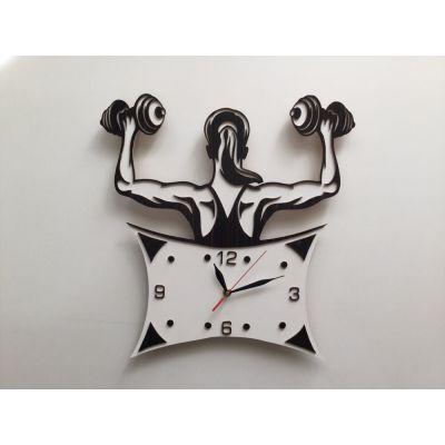 ساعت دیواری دستساز باب سالن بدنسازی بانوان
