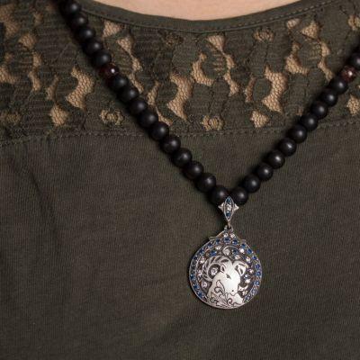 گردنبند نقره ماه تولد - فروردین