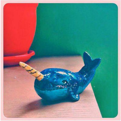مجسمه رومیزی نهنگ تک شاخ