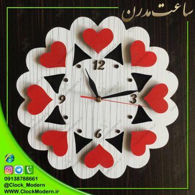 ساعت دیواری طرح قلب ( سه بعدی )