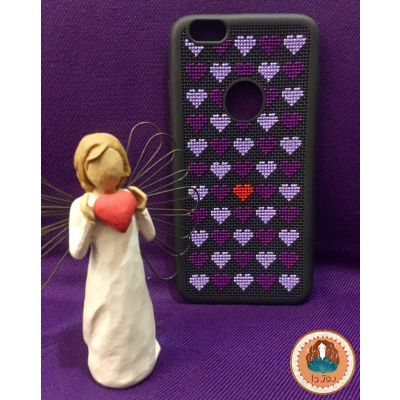 کد ۱۴۰- قاب موبایل طرح قلب❤️ مناسب Iphone 6 plus