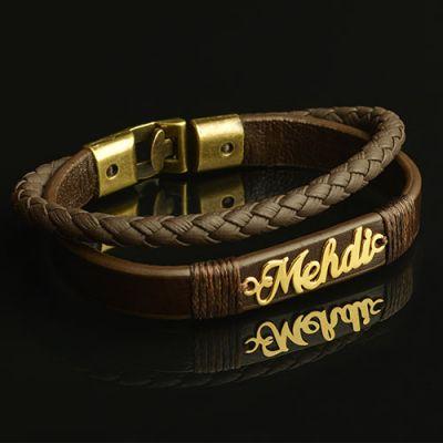 دستبند چرم طبیعی اسپرت