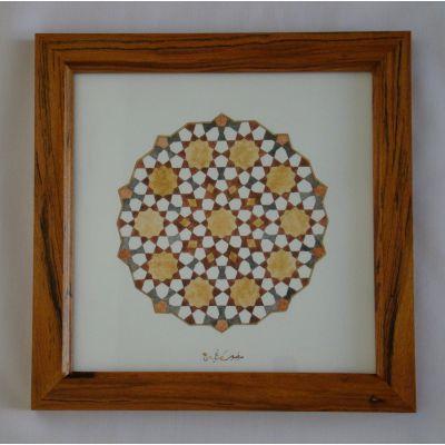 تابلو نقاشی آبرنگ با قاب چوبی