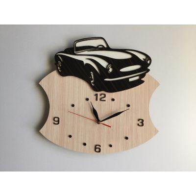 ساعت دیواری طرح خودرو ( چوبی و دستساز )