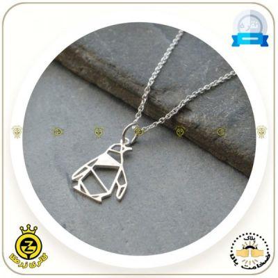 مدال گردنی پنگوئن اوریگامی