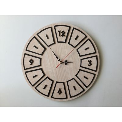 ساعت دیواری دستساز و تمام چوب دایره ای