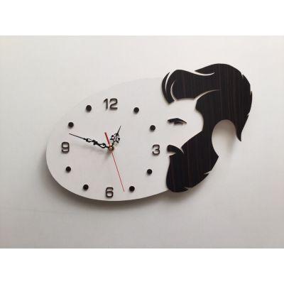ساعت دیواری دستساز برای سالن آرایش مردانه