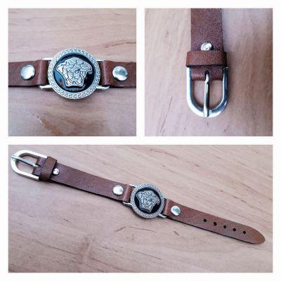 دستبند چرم گاوی اصل