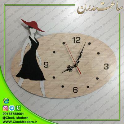 ساعت دیواری چوبی مناسب بوتیک زنانه