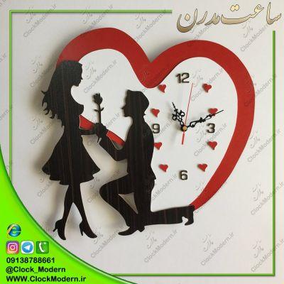 ساعت دیواری عاشقانه تقدیم رز