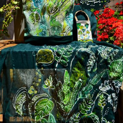 ست شال و کیف چاپ دستی نیک طبع دیزاین، جنگل استوایی