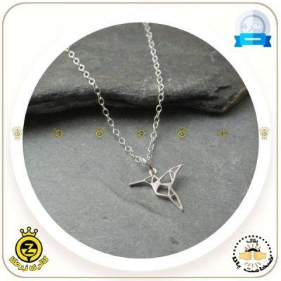 مدال گردنی مرغ شهدخوار اوریگامی
