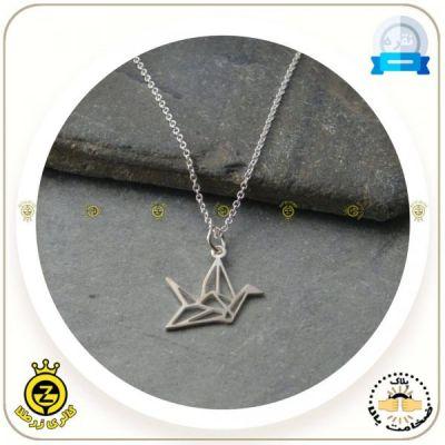 مدال گردنی پرنده اوریگامی