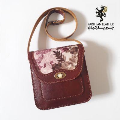 کیف دوشی زنانه چرم گاو