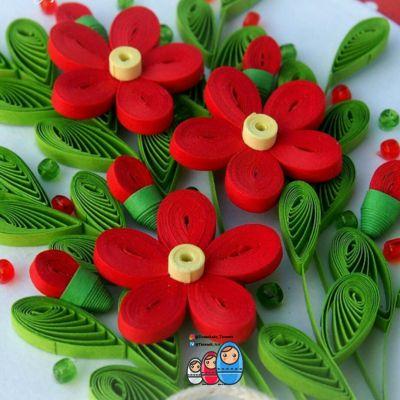 قاب کوئیلینگ شکوفههای بهاری 🌸