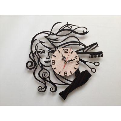 ساعت دیواری رخ زن خاص سالن آرایش زنانه