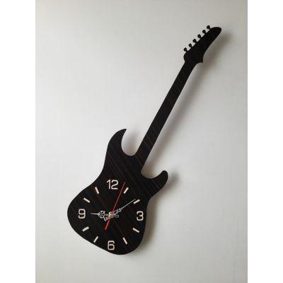 ساعت دیواری دستساز و چوبی گیتار