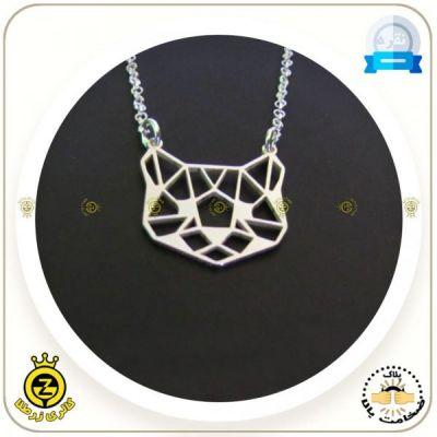 مدال گردنی گربه اوریگامی