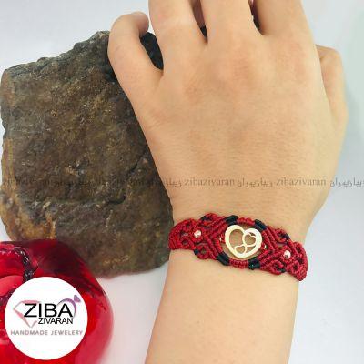 دستبند طلا مدل قلب