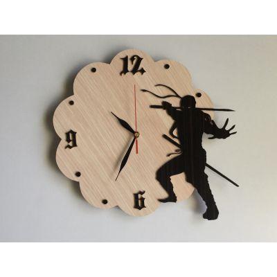 ساعت دیواری طرح نینجا ( چوبی و دستساز )