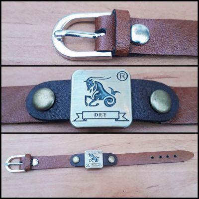 دستبند چرم گاوی ( نماد ماه دی )