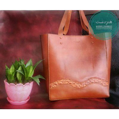 کیف دوشی چرم طبیعی زنانه